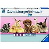 Ravensburger 14801 - Tierische Freunde, 500 Teile Panorama Puzzle