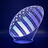 Lampe 3D Rugby Football Sport Ballon Jeux Chambre Décoration 7 Couleurs Meilleur Cadeau De Vacances Pour Enfants Nuit Lumière Lampe