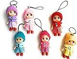 Mini bambola Accessorio per Cellulari. Set di 6 personaggi di Mini Bambole