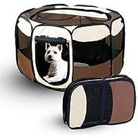 sumaida 8Panel portátil caja para juegos cachorro perro de mascota gato jaula de la perrera Tienda Jugar pluma tamaño M