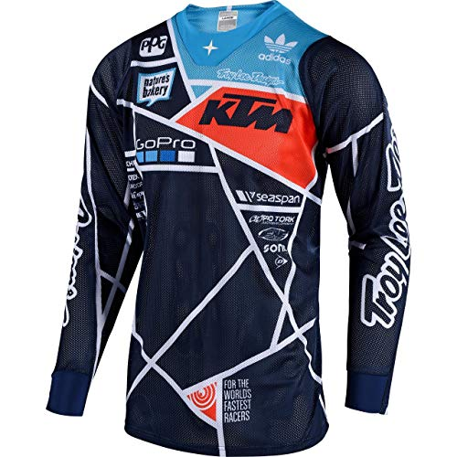 Troy Lee Designs Shirt, Jersey SE Air Jersey Metric Navy/orange M, Herren, Cross/Offroad, Ganzjährig, Baumwolle Troy Lee Designs Se Jersey