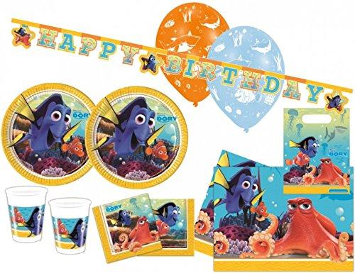 Findet Nemo Party Deko Set - für 8 Kinder (Nemo-party)