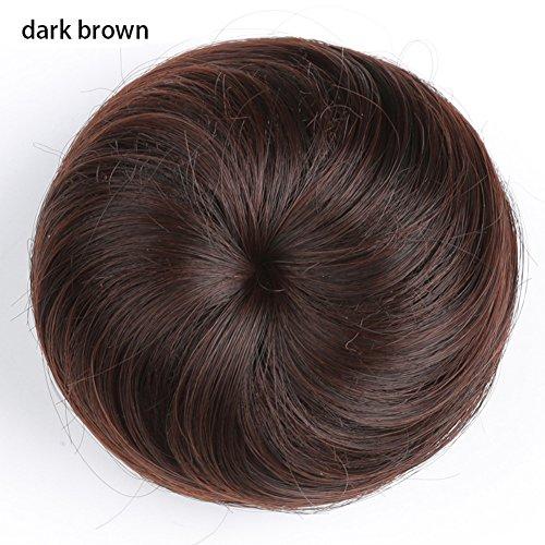 �cke Tasche gerade Haar Blume Haar Coil Frisur Perücke Fake Nadel Haarteile Dutt Haarverlängerung Perücken Haargummi Kordelzug Haar Verlängerung ()