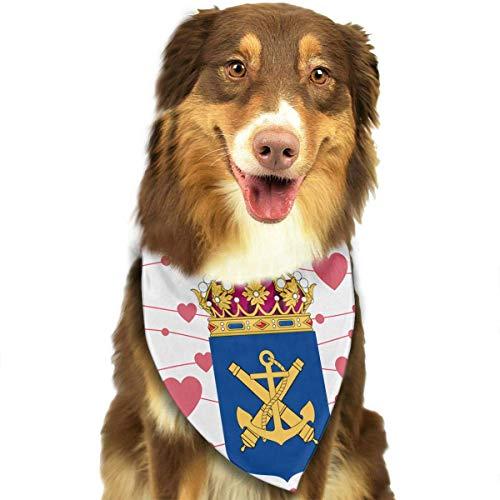 Gxdchfj Swedish Navy Fashion Dog Bandana Pet Accessories Easy Wash Scarf (Halloween-kostüme Baby-mädchen Easy)