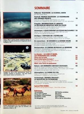 SCIENCES ET AVENIR N? 537 du 01-11-1991 SOMMAIRE - EDITORIAL - TELEVISION - LA SCIENCE ENFIN - PORTRAIT - FRANCK DAVIDSON - LE VISIONNAIRE DES GRANDS PROJETS - ENQUETE - INFORMATIQUE ET LIBERTES - LA RECHERCHE MEDICALE MISE EN CAUSE - ARMEMENT - A QUOI SERVENT LES ESSAIS NUCLEAIRES - ARCTIQUE - L'ODYSSEE DE L'ASTROLABE - EN COUVERTURE - SE SOIGNER A LA BONNE HEURE - RESTAURATION - LE CINEMA RETROUVE LA MEMOIRE - LE DOSSIER - LA LUNE ET MARS - LES FRONTIERES DE L'UTOPIE - VIVRE SUR LA LUNE - Q... par Collectif