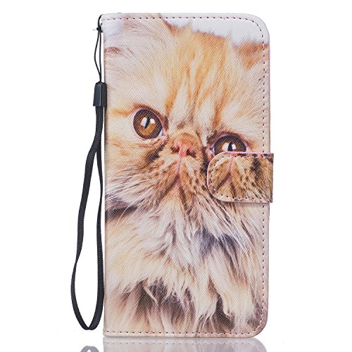 iPhone 6S Plus Hülle,iPhone 6 Plus Case,iPhone 6S Plus Cover - Felfy PU Ledertasche Strap Flip Standfunktion Magnetverschluss Luxe Bookstyle Ledertasche Nette Retro Mode Painted Muster Abdeckung Schut Persisch