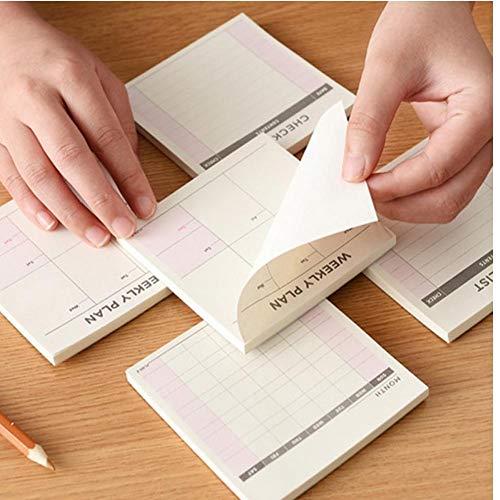 PiniceCore 1Pc Kawaii Settimanale Lavoro Planner Agenda del Libro del diario Notebook