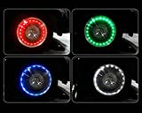 Car Auto Solar Energy Bike Bicycle Cycling Light Lamp Lollychan Flashing Multi Colour LED Tire Light Motion Sensors for Car Motorcycle Bicycle