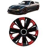 Carparts-Online 33526 Radkappen Radzierblenden für Stahlfelgen Set Tenzo-R I 14 Zoll schwarz rot