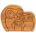 Owl Family 3-D Puzzle : Fun Brain Teaser : Handcrafted Wood : Top Novelty Christmas Gift Idea!
