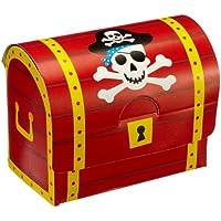 8 Schatzkisten / Schatztruhen aus Pappe Pirat preisvergleich bei kinderzimmerdekopreise.eu