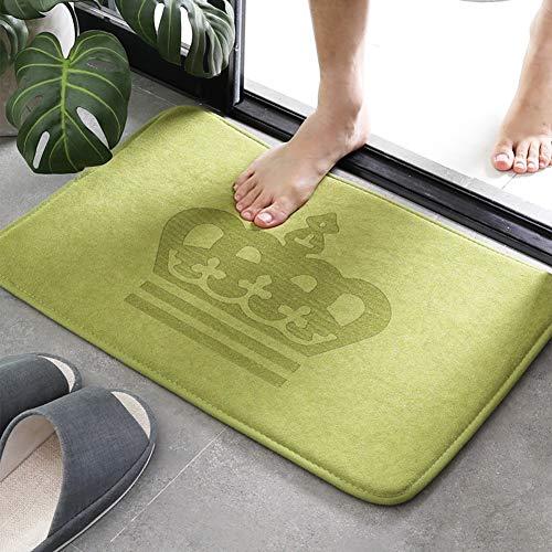 ZHANG Weich Speicher Schaum Bad Matten,Nicht-Slip Absorbent Schön Für Wohnzimmer Küche Badezimmer Etagen-grün 40x60cm(16x24inch) -
