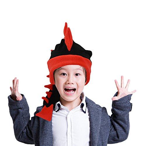 Hüte Kostüm Drachen - Geekbuzz Lustige Kostüme Drachen Endstück Hut Neuheit Fancy Partei Dress Kostüme Caps zum Schlafen Crazy Partei Kopfbedeckungen für Erwachsene Kinder (klein, schwarz)
