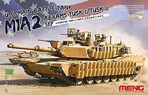 Meng TS de 026–Modèle Kit US main Battle Tank M1A2Sep Abrams Tusk I/Tusk II