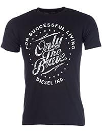 T-shirt Diesel T-Consi pour homme en noir