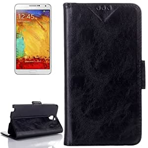 Oil Leather Case with Card Slot & Holder for Samsung Galaxy Note III Lite / N7505 (Black)