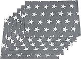 REDBEST Tischset 6er-Pack grau Größe 30x45 cm