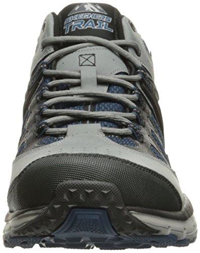 Skechers Geo Trek - Sequencer Hommes Cuir Chaussure de Randonnée gray-blue