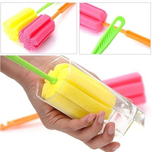 GAOHOU®Hi-elec Küche Reinigung Tools Schwamm Sponge Pinsel für Glas/flasche/Cup Flaschenbürste zufällige Farben