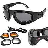 Bobster USA Sport+Street II mit 3 Satz Wechsellinsen Biker Sonnenbrille