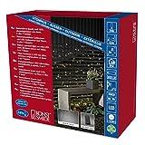 Konstsmide 3725-100 LED Lichternetz / für Außen (IP44) /  Batteriebetrieben: 4xD 1.5V (exkl.) / mit Lichtsensor und 6h u. 9h Timer / 240 warm weiße Dioden / schwarzes Kabel