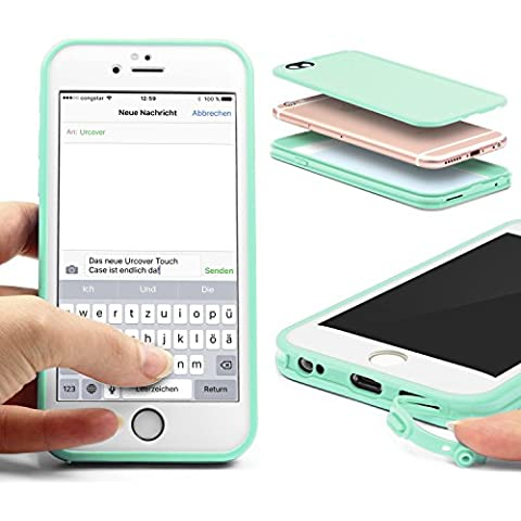 Original Urcover®| Custodia per Apple iPhone 6 / 6s - [Touch case 2016 ] - [TPU] - [Lastra protettiva] Case telefonino Cover cellulare [ Verde/Bianco ]