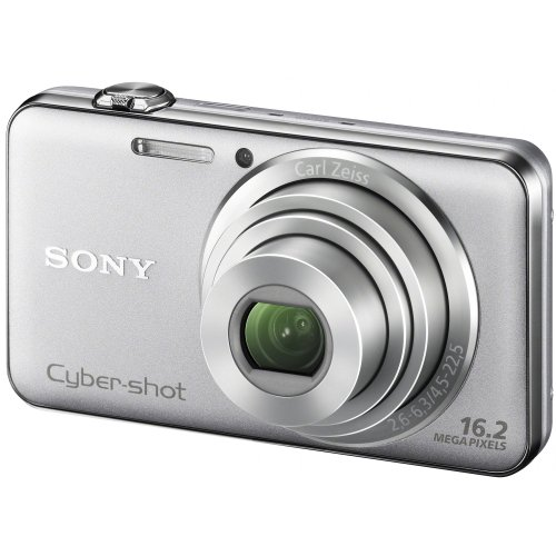 Sony DSC-WX50S Digitalkamera (16 Megapixel, 5-fach opt. Zoom, 6,7 cm (2,7 Zoll) Display, bildstabilisiert, 3D-Schwenkpanorama) silber (Sony W220)