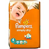 Pampers Simply Dry Taille 4 Maxi 7-18kg (46) - Paquet de 2
