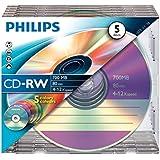 Philips CD-RW CW7D2CC05/00 - CD-RW vírgenes (CD-RW, 700 MB, 80 min)