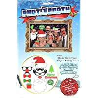 Photo Booth Kit de Navidad Selfies Selfies - 12pcs Card Props y 12pcs Posando palos