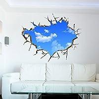Soleggiato Nuvole Wall Stickers 3D per Camera da letto Soggiorno Divano TV soffitto sfondo Sticker Oggettistica per la casa murali removibili Wallpaper Stickers (L: 70 * 90cm) - Nursery Wallpaper Murales