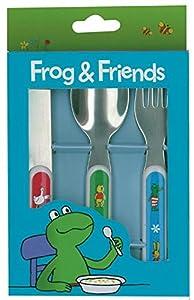 Frog and Friends Set de 3 cucharas (Barbo Toys 7707)