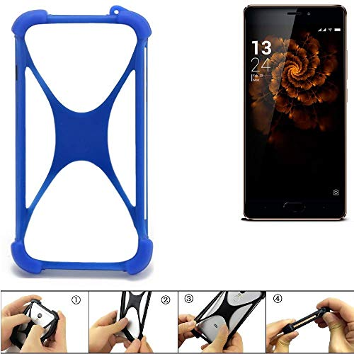 K-S-Trade Bumper für Allview X3 Soul Pro Silikon Schutz Hülle Handyhülle Silikoncase Softcase Cover Case Stoßschutz, blau (1x)