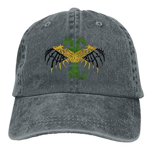 GiveUCap Adult Baseball Caps Hüte Jamaican Flag Dragon Dad Denim Hat Vintage Baseball Caps Adjustable for Men Women (Jamaican Hüte)