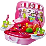 Kitchen Cooking Pretend PlaySet For Kids - 26 Pcs