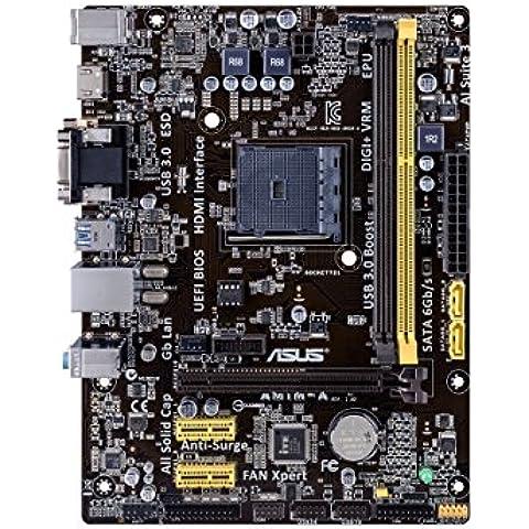ASUS AM1M-A Placa base (DDR3, S-ATA 600, Micro ATX, PCI Express 2.0 x16, HDMI, VGA, DVI-D, USB 3.0, UEFI BIOS, Socket