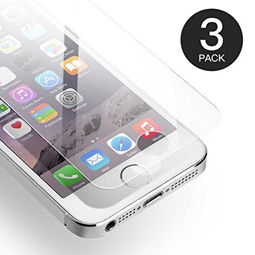 Axhkio pellicola protettive compatibile con iphone se/ 5s/ 5/ 5c vetro temperato(4 pollici)-0,25mm, hd trasparente, 9h durezza, 3d touch