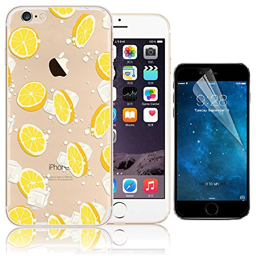 iPhone 7 Case (4.7), Bonice iPhone 7 Custodia,TPU Trasparente Ultra Slim Thin Morbido Crystal Clear Cover + 1x Protezione Schermo Screen – Rosa Model 18