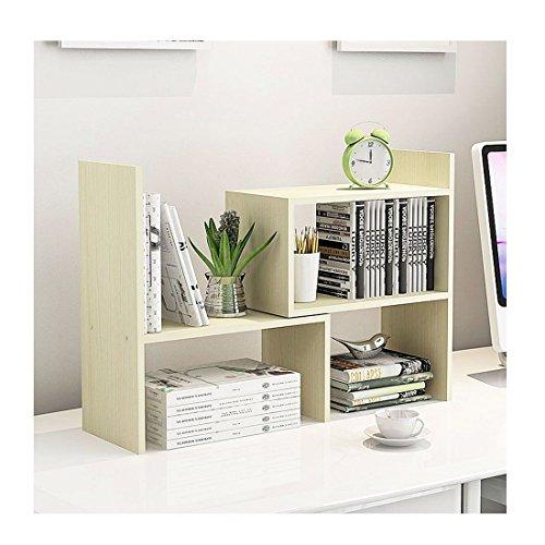 AH Libreria Piccola Regolabile Personalizzata sul Tavolo Ufficio Mensola Scaffale Organizzatore da Scrivania Porta Oggetti per Studenti