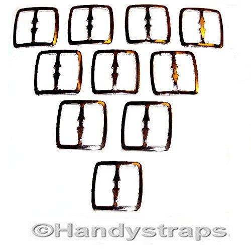 Preisvergleich Produktbild 10x 25mm 3BAR Metall Folien Schnallen für Gurtband
