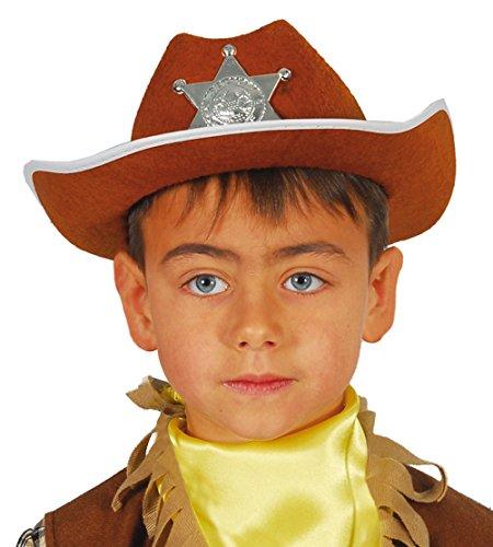 Guirca fiestas gui13559–Marrone feltro cappello da sceriffo, per bambini