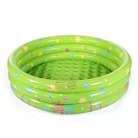 Kinderplanschbecken Hause PVC aufblasbaren Pool Kinder verdickte 0-4 Jahre alt Baby-Spielzeug Ball-Pool , green , 80cm