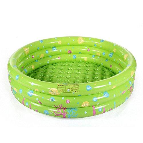 Preisvergleich Produktbild Kinderplanschbecken Hause PVC aufblasbaren Pool Kinder verdickte 0-4 Jahre alt Baby-Spielzeug Ball-Pool , green , 100cm