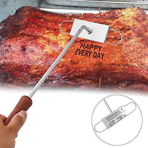 DIY Edelstahl BBQ Grill-Werkzeuge 55 wechselbares Alphabet personalisiert für Fleisch Steak Burger Grill Branding Iron Seal Name -