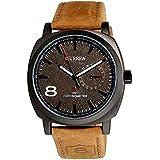 ساعة كورين الرياضية بحزام جلد للرجال 8140، انالوج