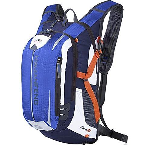 shth imperméable vélo de l'eau Sac de Voyage Ultralight Sac à dos bandoulière pour Sport Outdoor Hydratation équitation Alpinisme, 46* 26* 23cm, 18L, bleu foncé