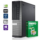 Gaming PC Computer | Dell 7010 DT (Desktop) | Intel Core i7-3770 @ 3,4 GHz | 16GB DDR3 RAM | 1000GB HDD | 240GB SSD | Nvidia GTX 1050 | DVD-Brenner | Windows 10 Pro (Zertifiziert und Generalüberholt)