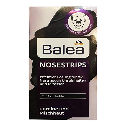 Balea Nosestrips mit Aktivkohle, 3 strips (1er Pack) (1er Pack)