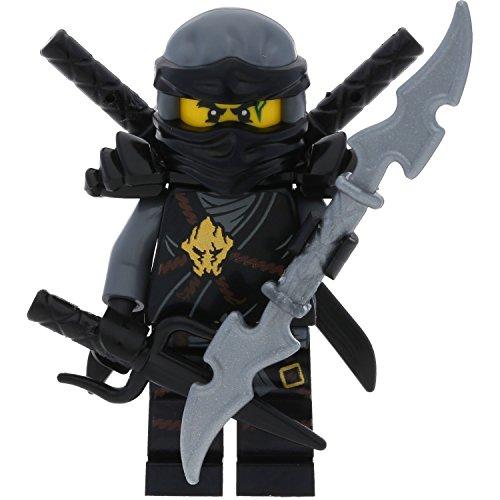 Preisvergleich Produktbild LEGO Ninjago Minifigur Cole aus Set 70595 incl. 4 GALAXYARMS Schwertern