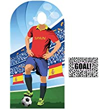 BundleZ-4-FanZ by Starstills Fan Pack - World Cup Football 2018 Spain Stand-In Lifesize Adult Cardboard Cutout with 20cm x 25cm Star Photo